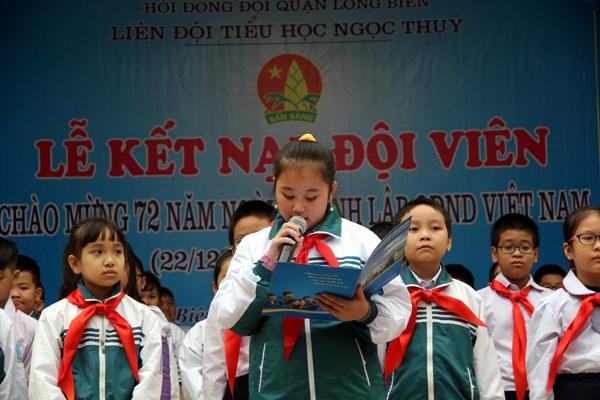 ta lai quang canh buoi ket nap vao doi thieu nien tien phong ho chi minh - Tả lại quang cảnh buổi kết nạp vào Đội Thiếu niên Tiền phong Hồ Chí Minh